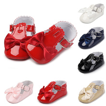 Shoes Baby-Girl Indoor First-Walker Soft-Sole White Princess Fashion with Bow Red Pink