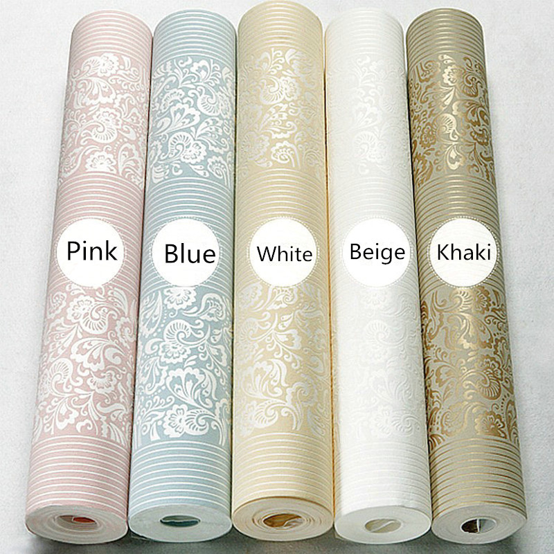 European Non-woven 3d Wallpaper Bedroom Green Simple Vertical Stripes Living Room Hotel White Beige Blue 53x1000cm for Room beibehang shop for living room bedroom mediterranean wallpaper stripes wallpaper minimalist vertical stripes flocked wallpaper