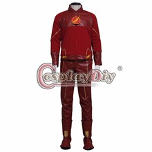 Cosplaydiy The Flash Men Cosplay The Flash Barry Allen Cosplay Costume Adult Men Halloween Carnival Cosplay Outfit Custom Made