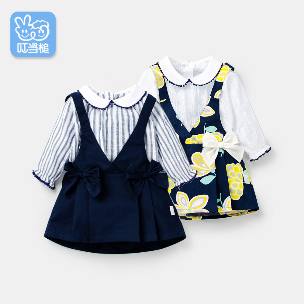 Dinstry 2019 dress for girls spring&autumn baby girl clothes stripe bowknot kids clothesDinstry 2019 dress for girls spring&autumn baby girl clothes stripe bowknot kids clothes
