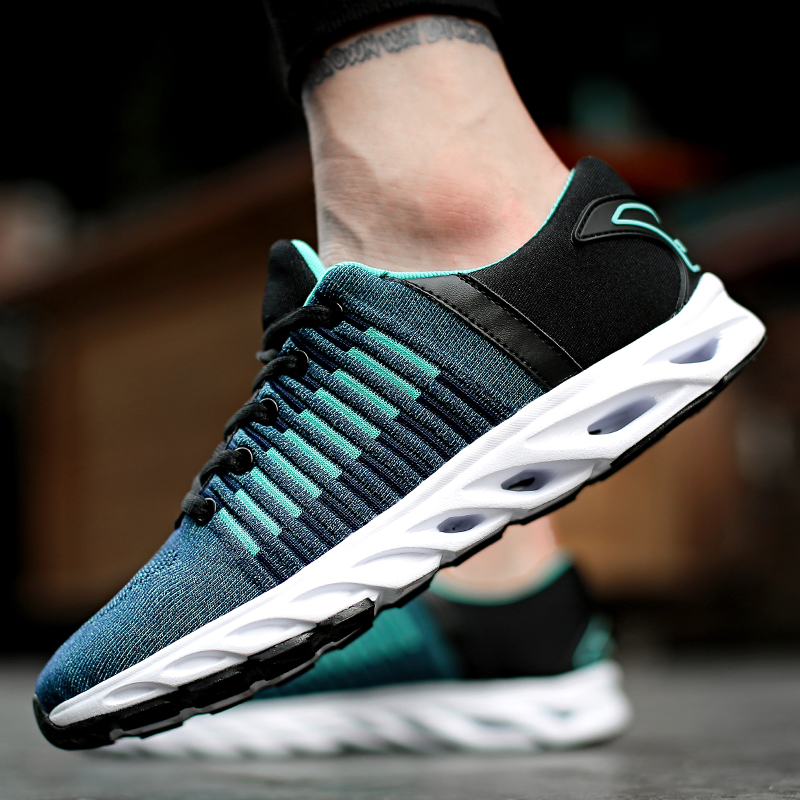 Autumn new trend students wild couple street shoot Hong Kong wind fly mesh canvas shoes men