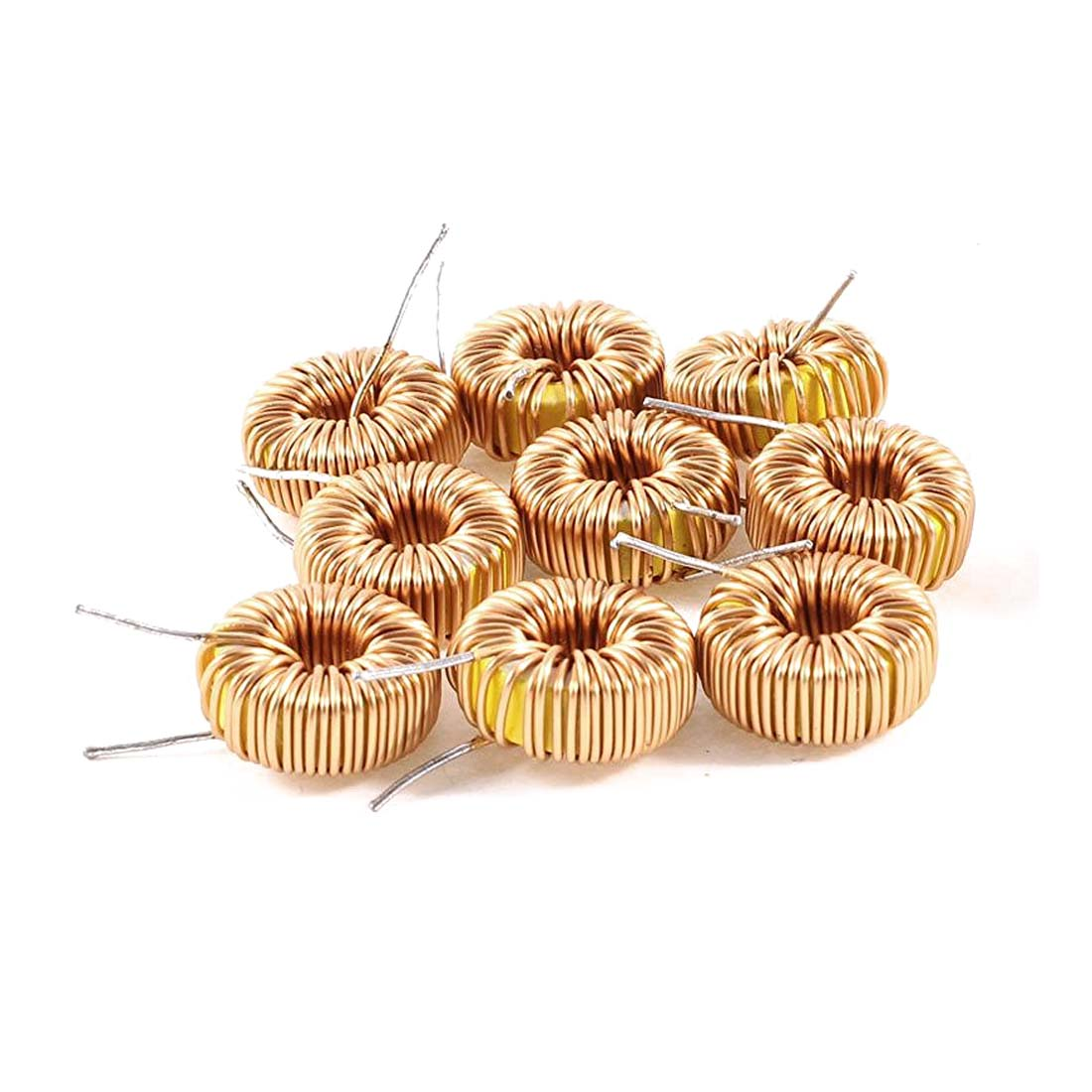 New 10 Pcs Toroid Core Inductor Wire Wind Wound 100uH 81mOhm 2A Coil 10pieces lot solid state relay ssr 10da 10a 3 32vdc 24 380vac