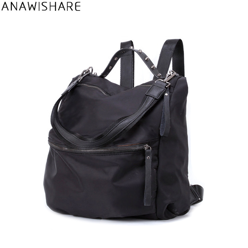 ANAWISHARE Women Backpacks Nylon Waterproof Travel Bags Men Backpacks School Bags For Teenagers Girls Bookbags Mochila Feminina