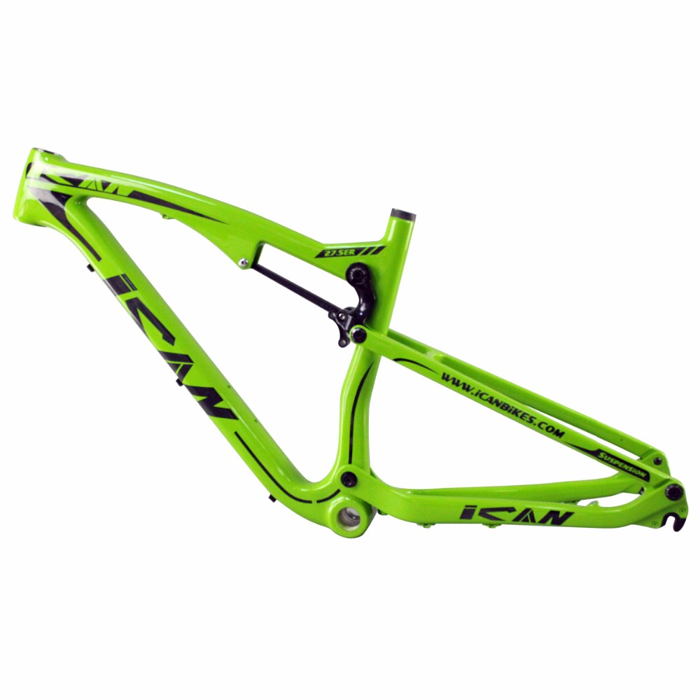 Full suspension bicicletas mountain bike double suspension 650B carbon frame thru axle mtb carbon frame 27.5er AC156 2017 new design iplay 29 full suspension frame carbon fiber 650b mtb frame 27 5er mountain bike frame ud matt 148 12mm thru axle