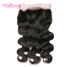 Vallbest Peruv Body Wave 360 Lace Frontal With Baby Hair Pre Plucked Human Hair Closure Can Adjusted Natural Black Non-Remy Hair