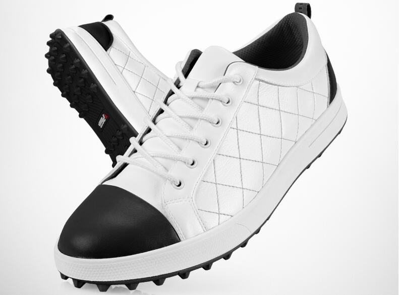 High Quality 2017 New PGM Golf Shoes Mens Leather Anti Skid Breathable Groove Patent Design Sneakers