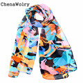 ChenaWolry 2016 Hot Selling Attractive Fashion Accessories Outdoor Women Chiffon Wrap Lady Shawl Chiffon Scarf Scarves Oct 11