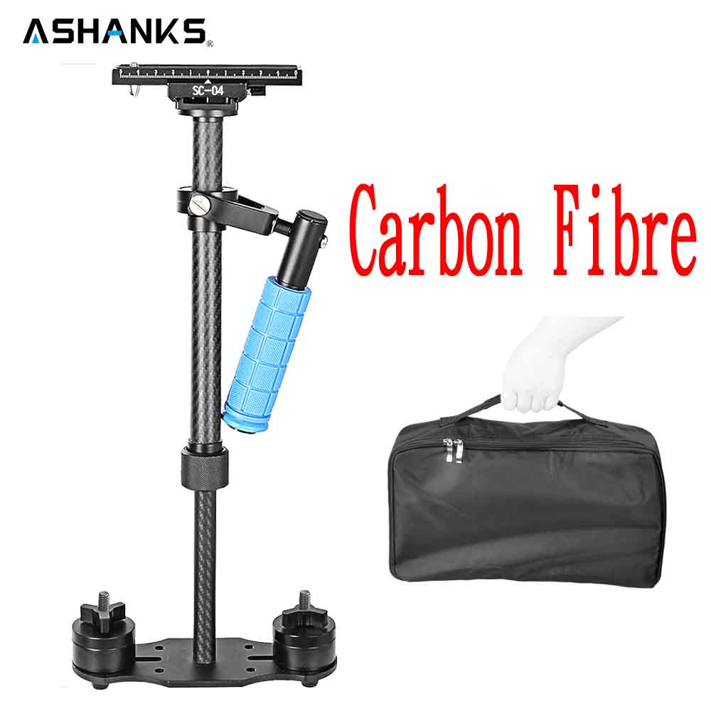 ASHANKS Carbon Fiber Handheld stabilizer Gimbal Stabilizers for Canon Nikon Sony DSLR Camera Video DV Camcorder Steadycam vs S40 s40 40cm professional carbon fiber mini dslr video camera dv camcorder stabilizer steadycam steadicam for canon sony nikon gopro