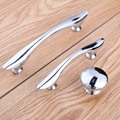 64mm modern simple shiny silver watch tv table bookcase handles 96mm bright chrome dresser kitchen cabinet drawer knobs pulls
