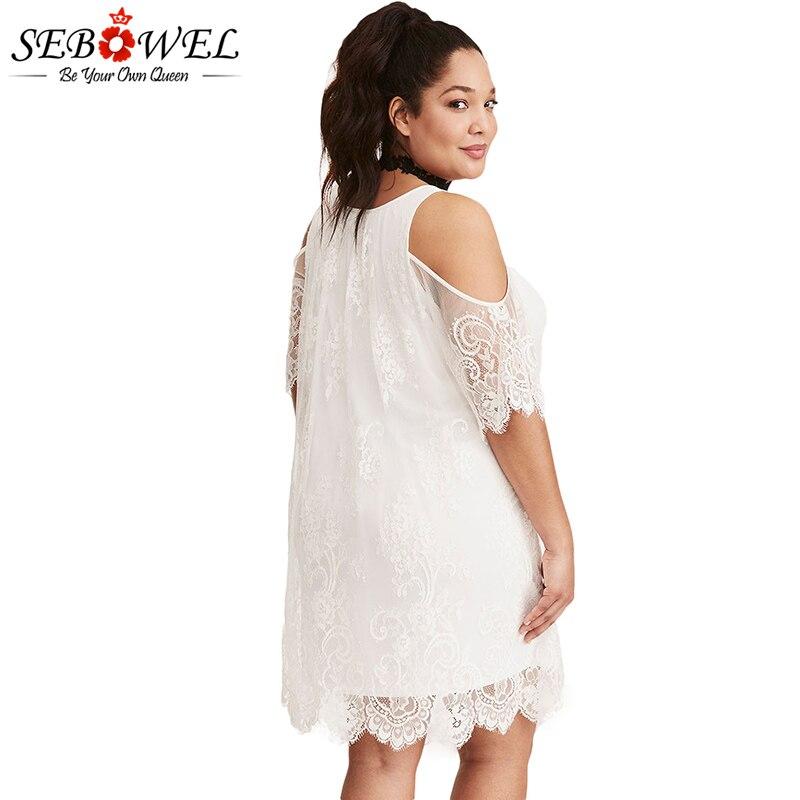 White-Plus-Size-Lace-Cold-Shoulder-Trapeze-Dress-LC220363-1-3