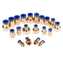 цена на 5Pcs Pneumatic Fittings Quick Push In Connector 1/8'' 1/4'' 3/8'' 1/2'' M5 Female Thread-4 6 8 10 12mm Tube Straight Connection