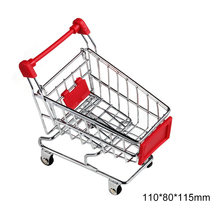 Mini Supermarket Shopping Cart Trolley Pet Bird Parrot Hamster Toy Funny Pet Supplies(China)
