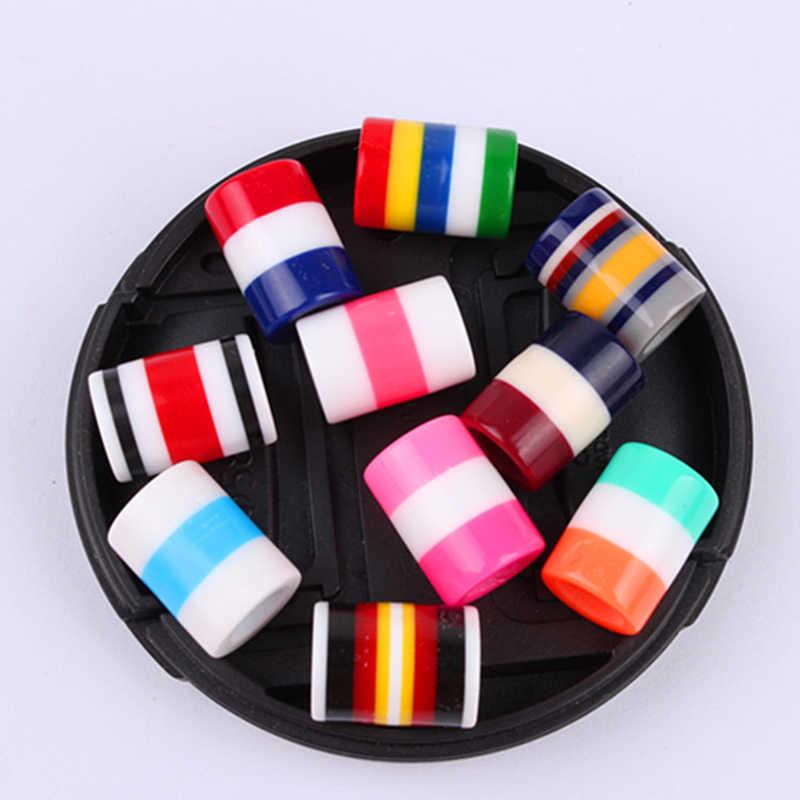 Заводская распродажа 10 шт./лот Розовый и красный цвет фиолетовый зеленый синий золотого, серебряного цвета Dreadlock волосы Бусины Регулируемый волос кольцо для косы волосы