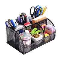 MyLifeUNIT Metal Mesh Pen Container Organizer Multi-Functional Desk Storage Rack Pen Holder Office Supplies