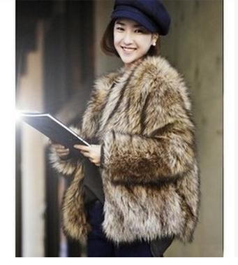 Popular Brown Fur Jacket-Buy Cheap Brown Fur Jacket lots from ...