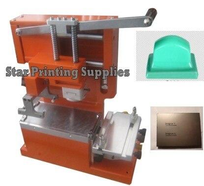 Печатная машина пусковой площадки запуска комплекты: Руководство запечатанных inkcup pad принтера + резиновая прокладка + пользовательские клише пластины 1 шт.