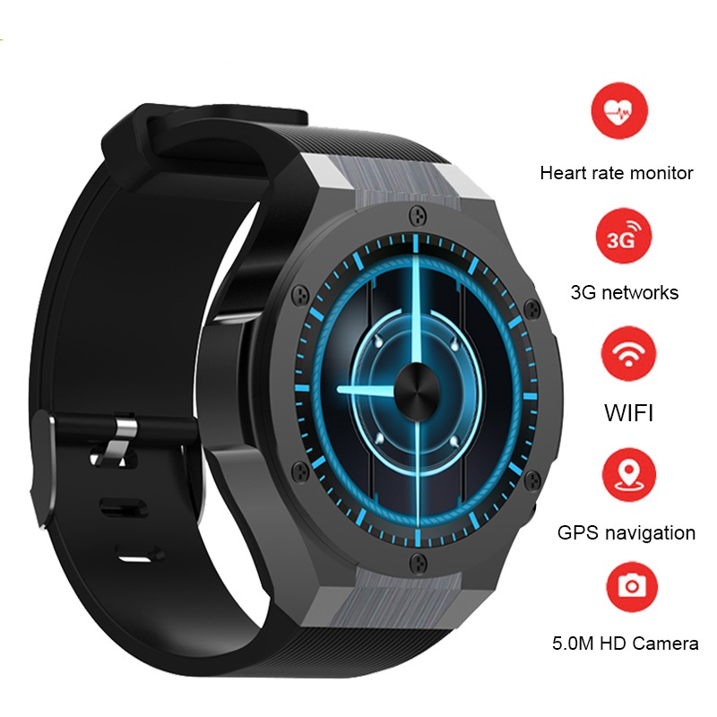 H2 Bluetooth Android 5.1 Smart Watch Bracelet MTK6580 16GB Camera Heart Rate Smartwatch Phone GPS WIFI 3G Wristwatch Pedometer цена и фото