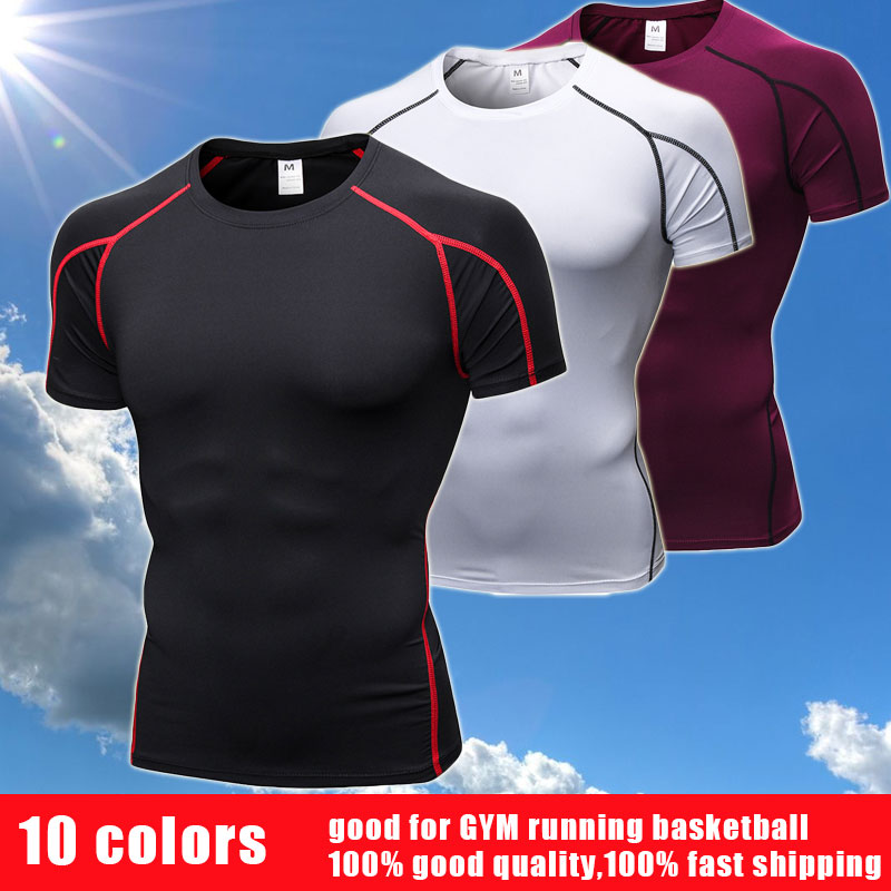 Quality Crossfit gym shirt Quick Dry rashgard Sportswear Compression Clothes fitness t shirt Top jersey Running