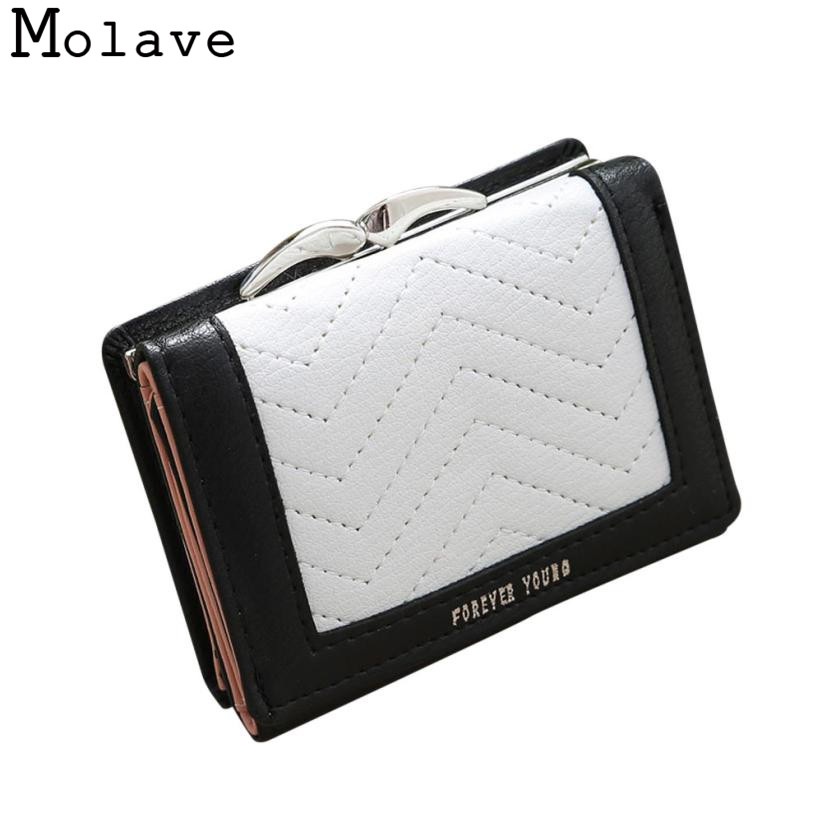 Naivety Panelled Short Wallet Thread PU Leather Wallets Female Hasp Patchwork Coin Purse 30S71207 drop shipping