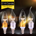 1 шт. Домашнего Освещения E14 Водить 220 В 3 Вт 5 Вт Энергосберегающие Лампы Свет E14 Светодиодные Свечи Velas Epistar SMD 2835 Светодиодные Лампы E14 5 Вт 3 Вт
