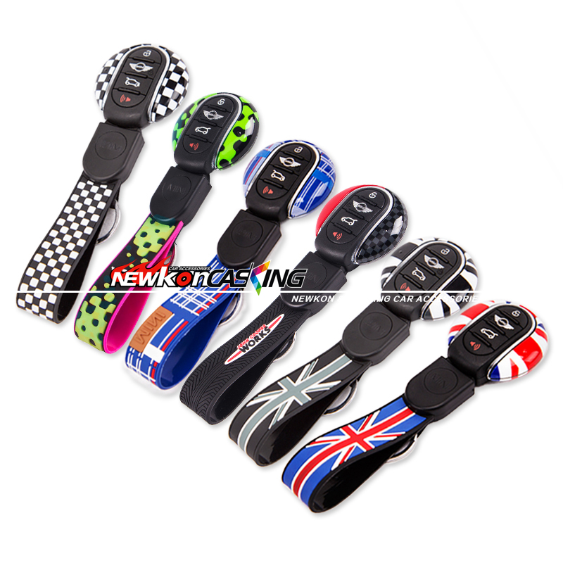 MINI Cooper Genuine Car Key fob Cap Case Cover Protector Holder Union jack flag style цены онлайн