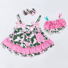 4adf9760ceb4 Newborn Girl Clothes Sets Clothing Infant Cotton Swing Top Set Ruffle  Outfits Bloomer Camouflage Baby Girls