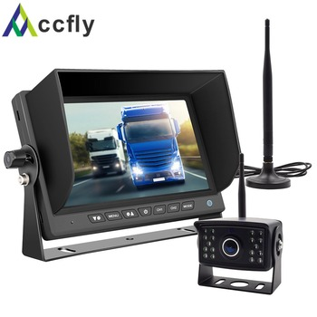 ACCFLY HD Wireless Backup Camera with 7 lcd Color Monitor Kit  reverse reversing rear view parking Camera system