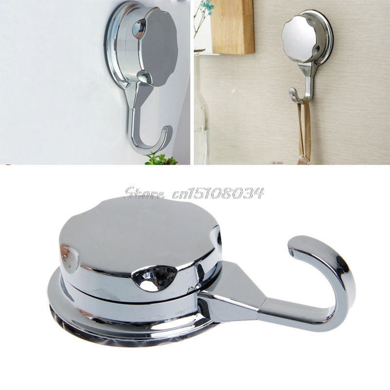 Chromed Suction Cup Kitchen Hooks For Towel Hooks Vacuum Hook Bathroom Wall Hook S08 Wholesale&DropShip