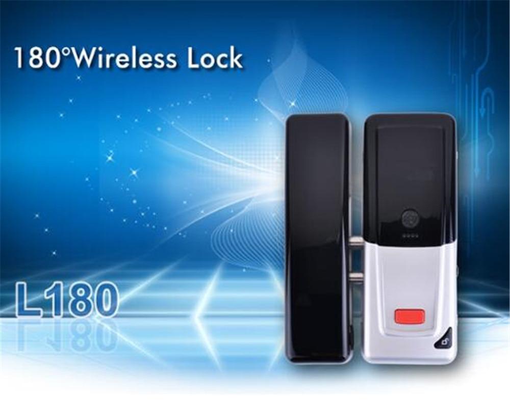 Remote control Wireless Networked Hotel Door Lock with Door Magnetic L180 remote control wireless networked hotel door lock with door magnetic l180
