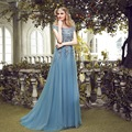 3D Flower Tulle See Through Long Princess Sleeves Long Formal Arabic Evening Prom Dress 2017 New Arrival Hot Selling O Neck