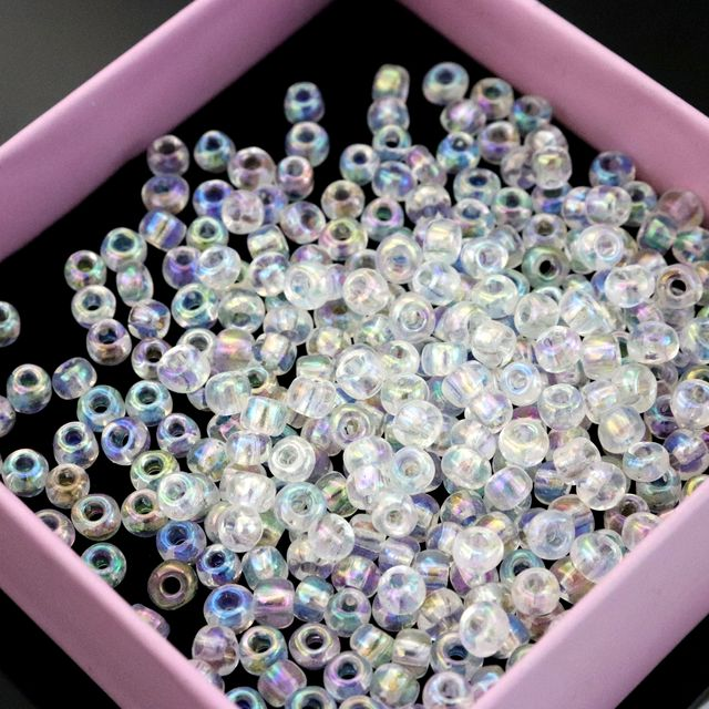 US $1 52 35% OFF|Size 4mm Hole 1mm Round Spacer Glass Seed Beads For  Jewelry Finding Handmade Bracelet Necklace Cross Stitch Diy Accessories-in  Beads