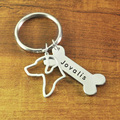 Rhodesian Ridgeback Keychain Custom Dog Lover Keychain Personalized Rhodesian Ridgeback Keyring Custom Dog key ring