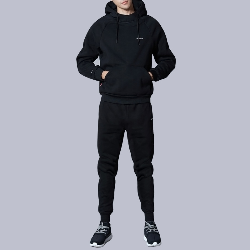255180d06d US $40.76 10% OFF|Male Sweater Suit Casual Fashion Long Sleeve Hooded  Sweatsuit+Pants Sets Men Autumn Winter Suits Cashmere Thickening Cotton  Sets-in ...