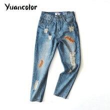Перья вышивка джинсы женские Осенние молнии прямые брюки джинсовые джинсы женщин Мода карманные синий Прохладный отверстие брюки джинсы