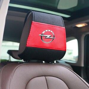 Image 4 - غطاء مسند رأس جديد للسيارة مع جيب للهاتف مناسب لأوبل أسترا H G J Insignia Mokka Zafira Corsa Vectra C D antra تصفيف السيارة