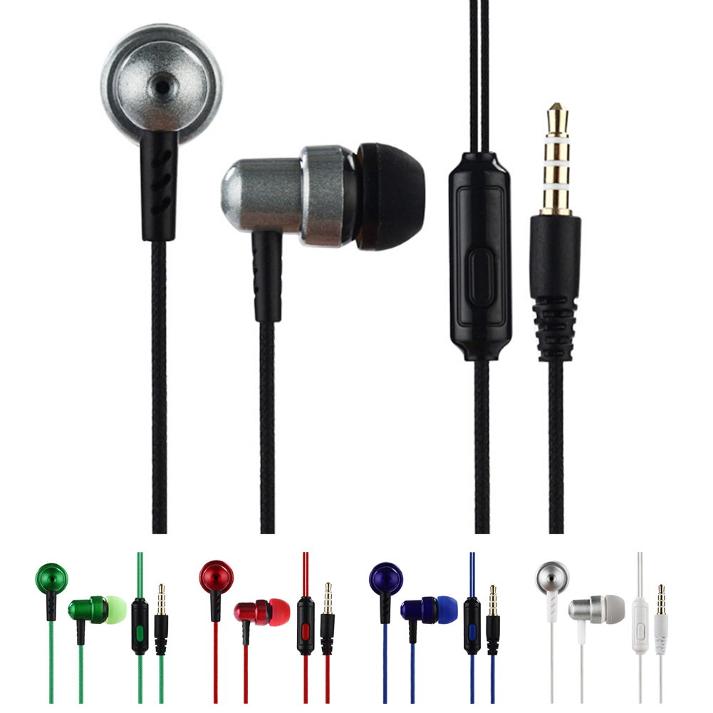 все цены на 3.5mm Stereo Plug 110cm Braided Wire Subwoofer Headset Ear Braided Rope Wire Cloth Earplug Noise Isolating Earphone Built-in Mic