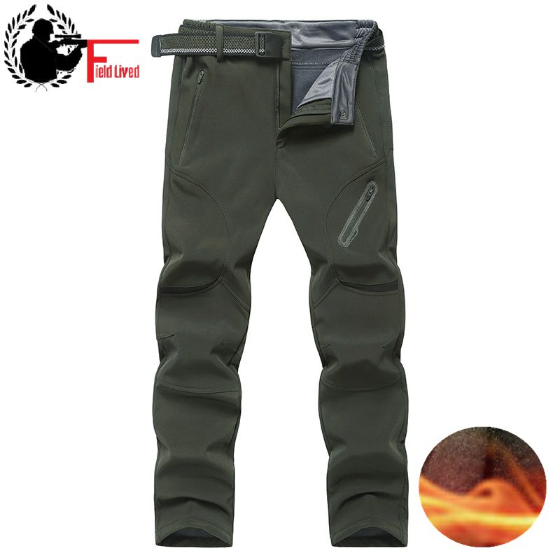 Men Winter Warm Cargo Pants Plus Size Big 4XL 5XL 6XL 7XL 8xl 9XL Thermal Fleece Military Pants Male Army Green Long Trousers