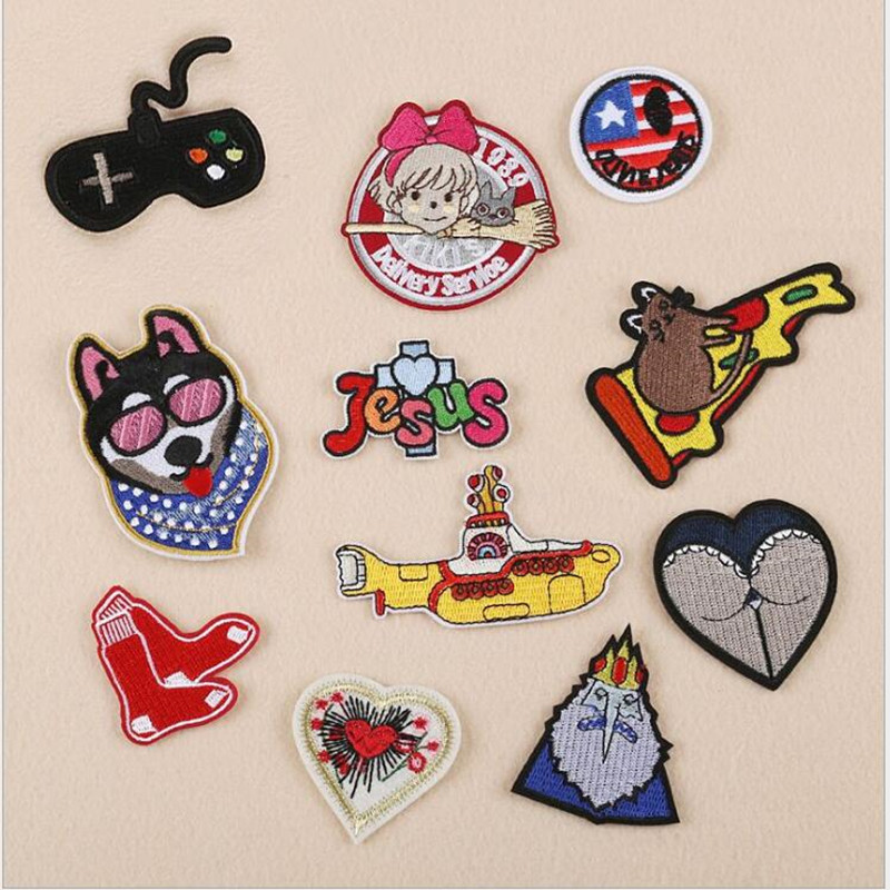 Love Yacht Badge Repair Patch Embroidered Iron On Patches For Clothing Close Shoes Bags Badges Embroidery DIY in Patches from Home Garden