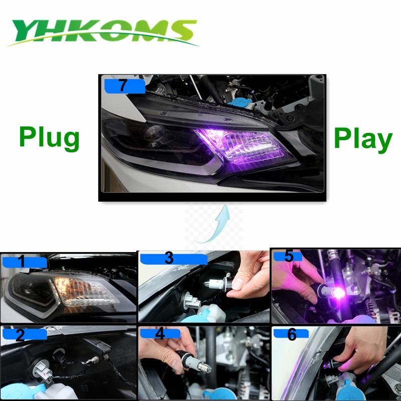 YHKOMS σούπερ φωτεινό T10 W5W LED RGB - Φώτα αυτοκινήτων - Φωτογραφία 5