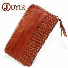 JOYIR Business Mens Brand Clutch Bags Luxury Cowhide Men Bag Long Genuine Leather men wallets Purse Wallets