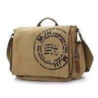 Hot sell 2018 casual men Tote messenger bags high quality men's Vintage travel bag male canvas shoulder bag classical design
