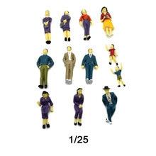 Teraysun Wholesale 20pcs miniature plastic model human figure 1:25 scale