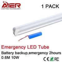 Emergency Led Tube T8 Integrated 600mm 10W Battery Backup T8 Led Tube Emergency 2 Hours Light