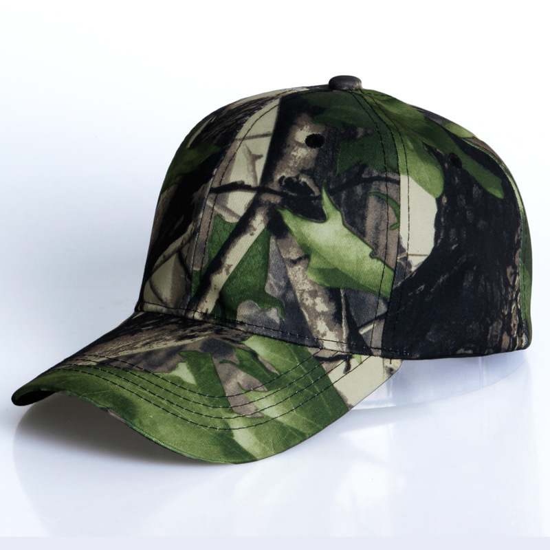 Baseball Hats Man Woman Motion Baseball Hat Han Banchao Personality Leaf Camouflage Street Outdoors Peaked Cap