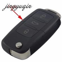 Jingyuqin 50 шт складной автомобиль дистанционного флип Оболочки FOB для VW Jetta Гольф Passat Beetle Мужские поло bora 3 Пуговицы ключ чехол