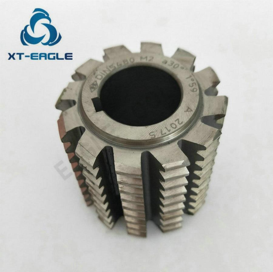DIN5482 Standard HSS M1 9 Involute Spline Gear Hob Cutter PA30 degree 50 50 22hole
