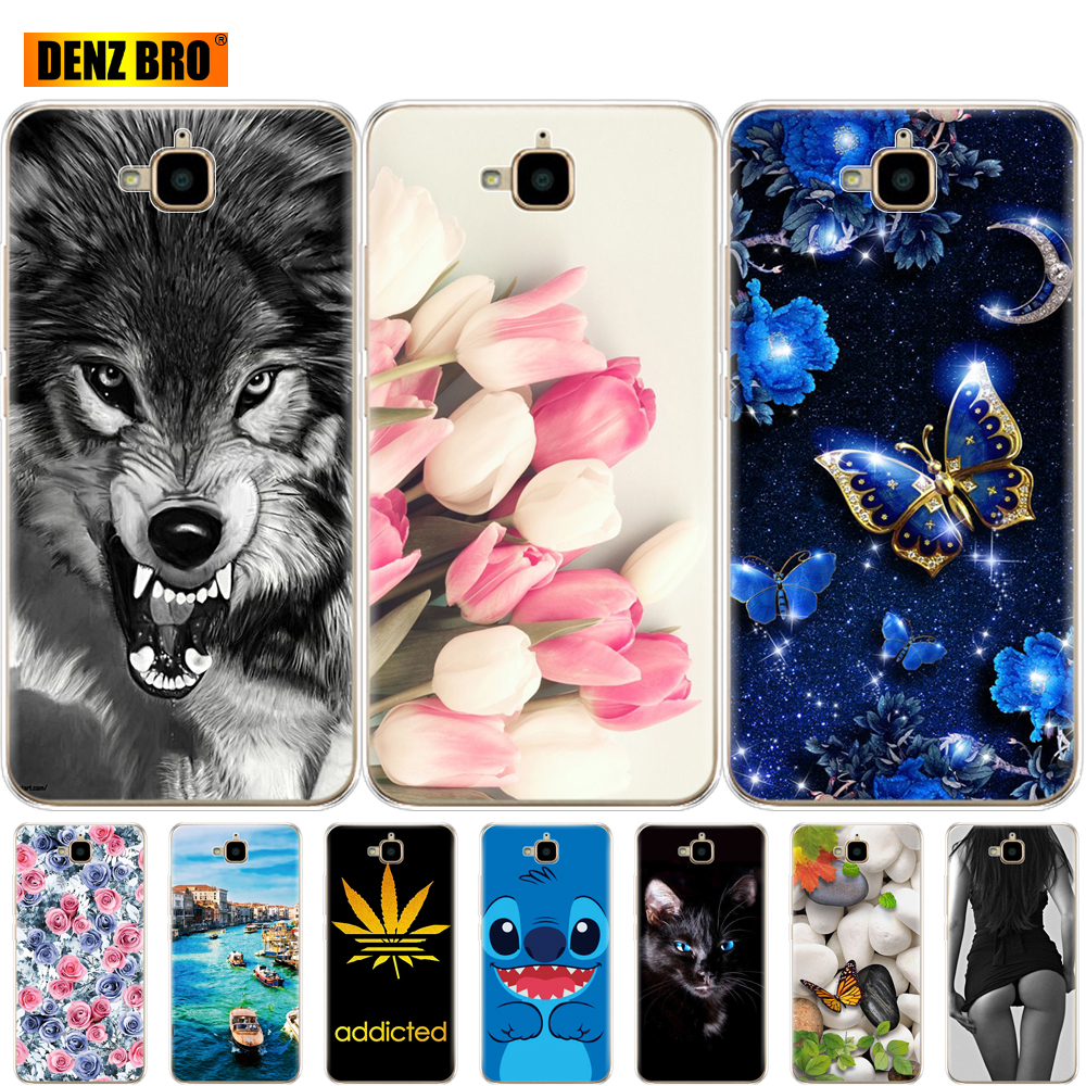 For Huawei Honor 4C Pro Case Honor 4C Pro Soft Tpu Silicone Back Phone Cover For Huawei Y6 Pro 2015 Case TIT-L01 TIT-TL00 Coque