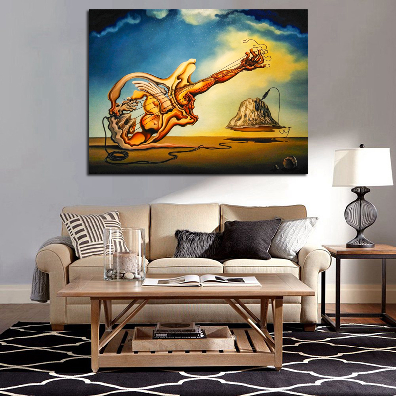 Surrealist Works Of Salvador Dali Canvas Painting Print Living Room Home Decoration Modern Wall Art Oil Painting Picture Artwork in Painting Calligraphy from Home Garden