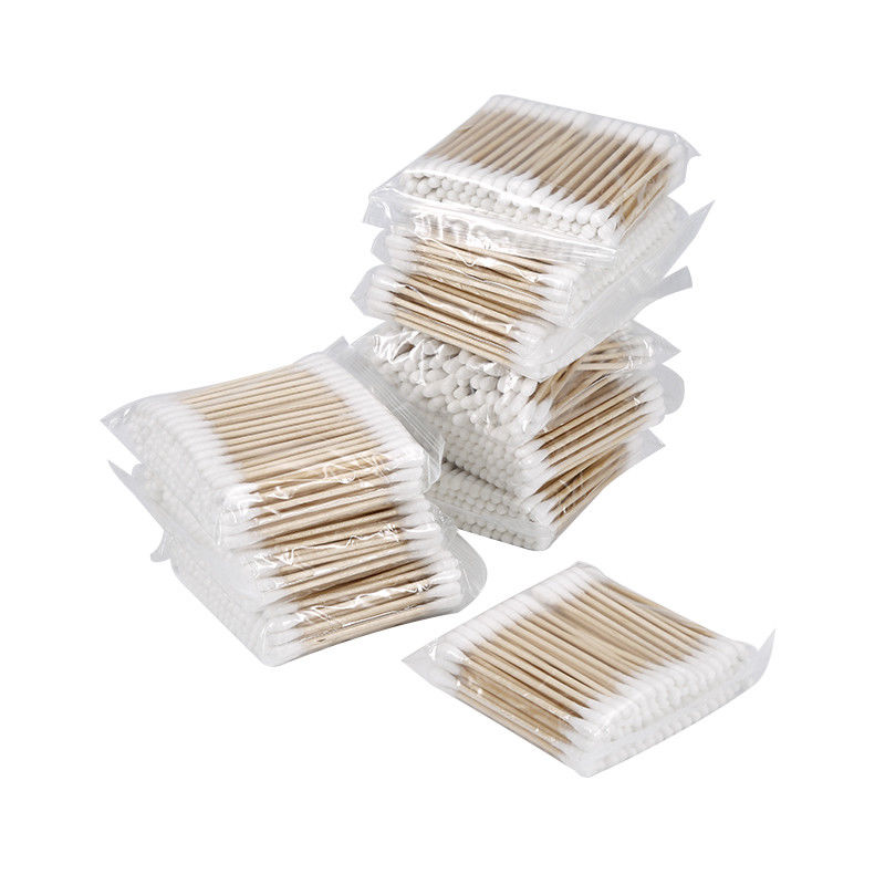 100pcs/ Pack Double Head Cotton Swab Baby Women Makeup Cotton Buds Tip For Medical Wood Sticks Nose Ears Cleaning Health Care
