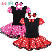 2017 New Fashion Promotion Kids Clothes Baby Girls Clothing Sets Kids Red Halloween Minnie Mouse Party